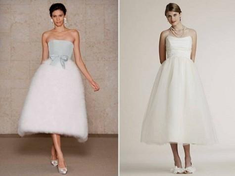 Vintage Tea Length Wedding Dresses Plus Size 71