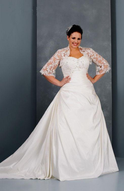 plus size wedding dress with jacket looks | B2B Fashion