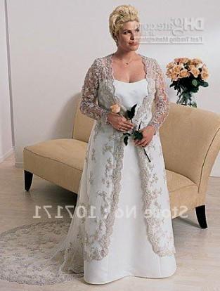 plus size wedding dress with jacket 2016-2017 | B2B Fashion