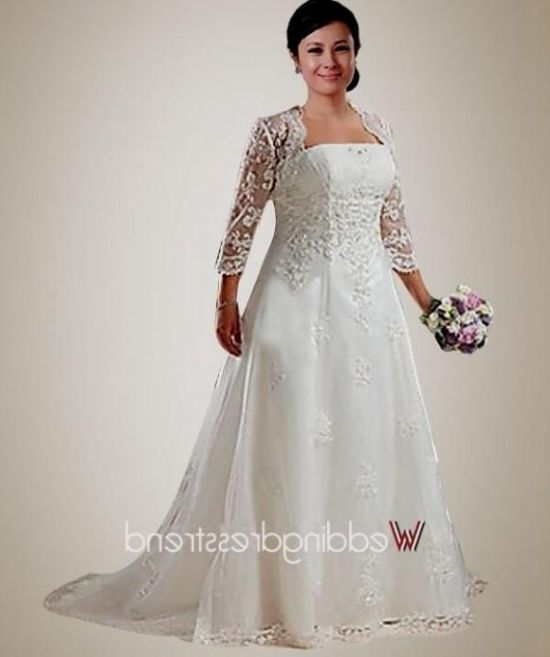 Plus size wedding dresses with jackets bridesmaid dresses for Wedding dress jackets plus size