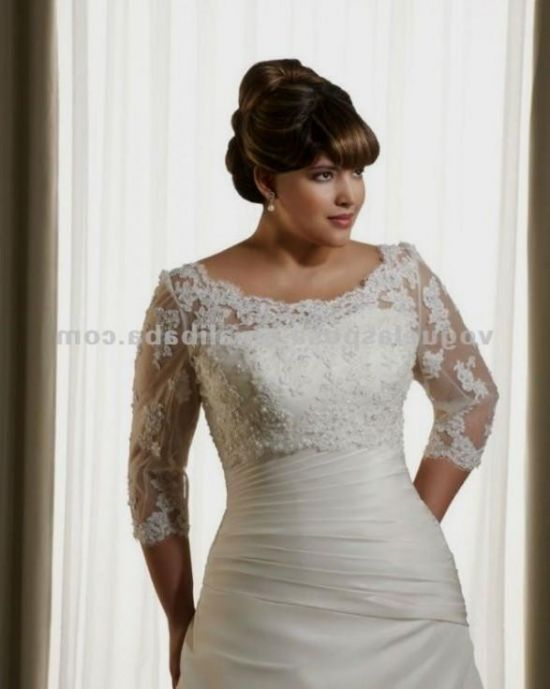 Plus size wedding dress with jacket 2016 2017 b2b fashion for Wedding dress jackets plus size