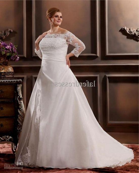 plus size wedding dresses with 34 sleeves 20162017 b2b