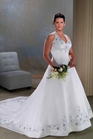 Plus Size Wedding Dresses With Color 41