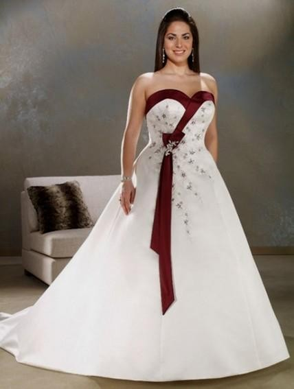 Plus Size Wedding Dresses With Color Accents Looks B2b