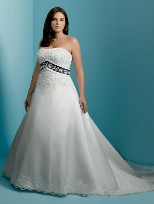 Plus Size Wedding Dresses with Color Accents