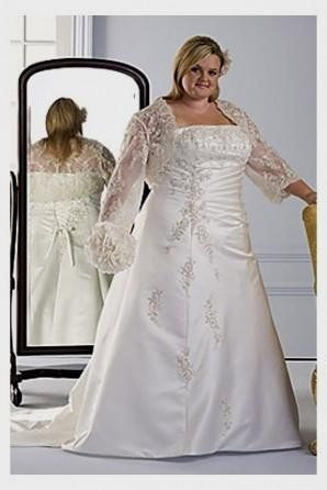 plus size wedding dresses with color accents 2016-2017 | B2B Fashion