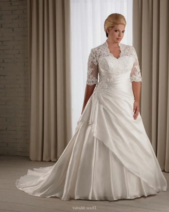 plus size wedding dresses with lace back 20162017 b2b