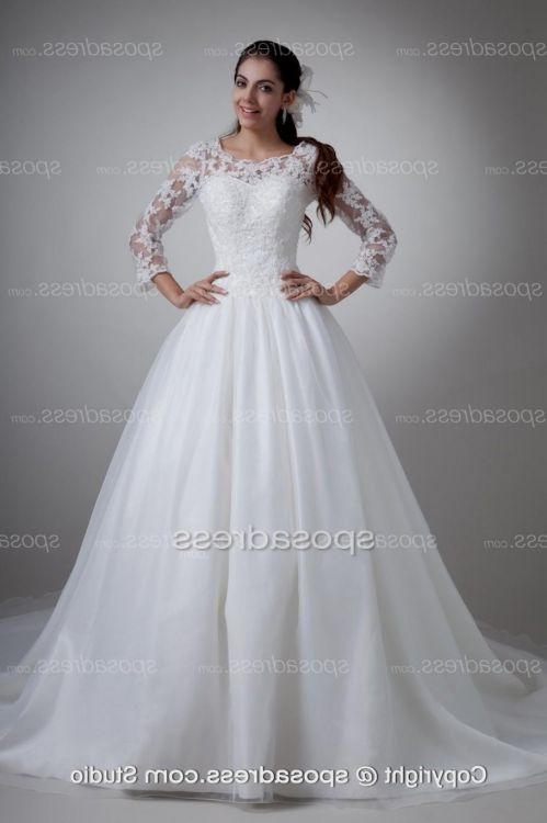 plus size wedding dresses with lace sleeves 2016-2017 | B2B Fashion