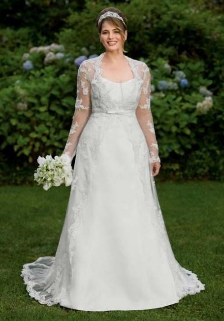 Plus size wedding dresses with sleeves 2016 2017 b2b fashion for Plus wedding dress with sleeves