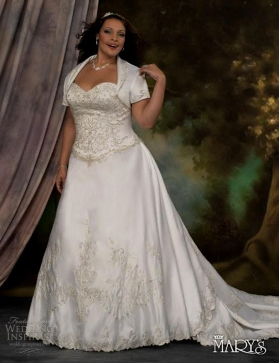 plus size wedding dresses with sleeves or jackets 2016