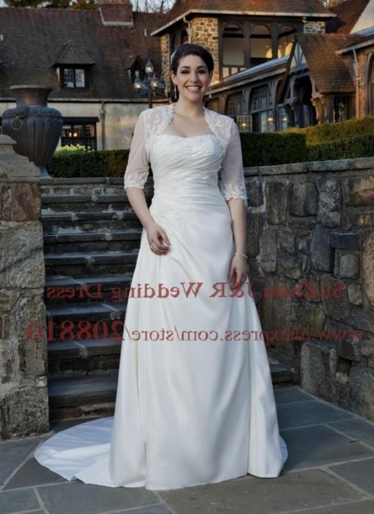 Plus Size Wedding Dresses With Sleeves Or Jackets - Wedding ...