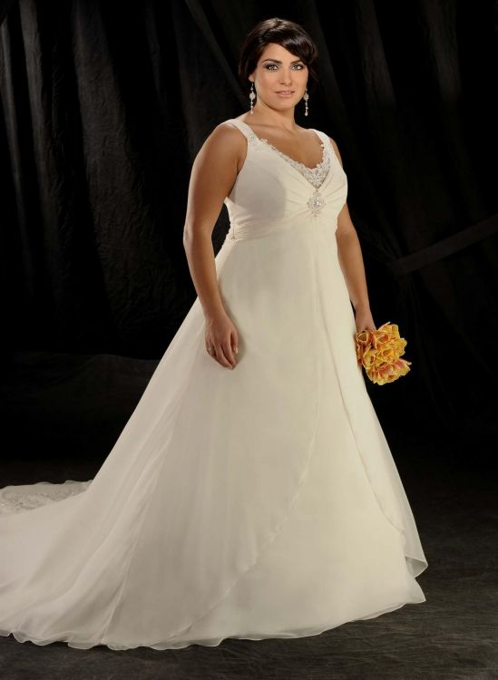 Plus size wedding dresses with straps 2016 2017 b2b fashion for Size 24 dresses for wedding