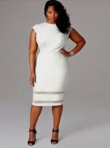 plus size white casual dresses looks | B2B Fashion