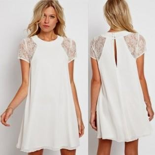 plus size white casual dresses looks | B2B Fashion