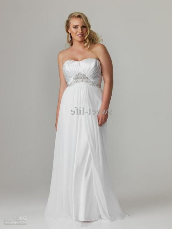 Plus Size White Evening Gowns