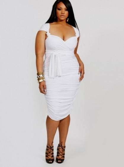 plus size white party dress with sleeves 2016-2017 » B2B Fashion