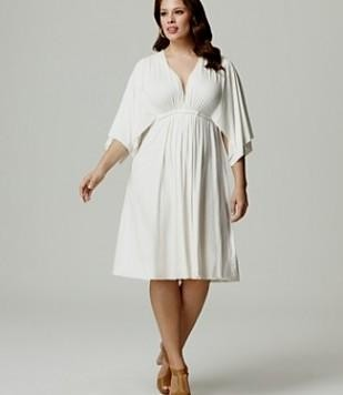 plus size white summer dress with sleeves 2016-2017 | B2B Fashion