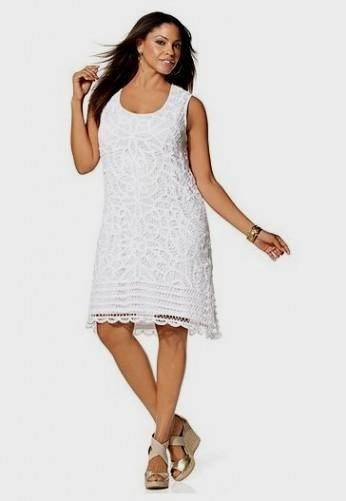 plus size white summer dress with sleeves looks | B2B Fashion