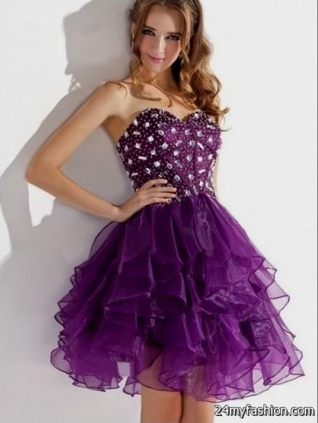 Prom Dresses Short Purple 2016 2017 B2b Fashion