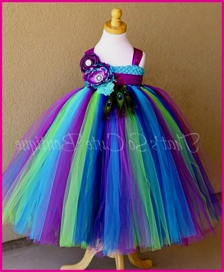 507ec2170ab You can share these purple and teal flower girl dresses on Facebook