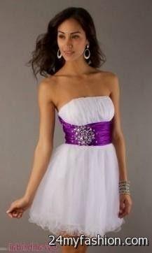 purple and white sweet 16 dresses short 2016-2017 » B2B Fashion