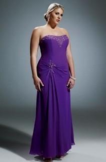 Plus Size Purple Bridesmaid Dresses