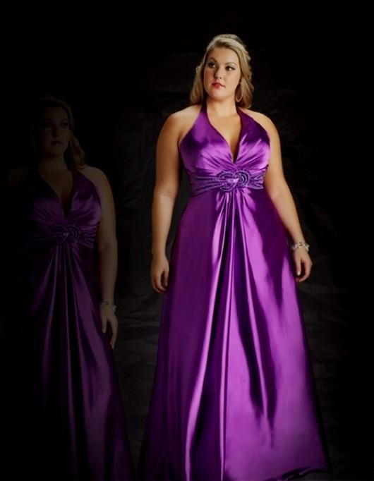 Purple bridesmaid dresses plus size 2016 2017 b2b fashion for Plus size purple wedding dress