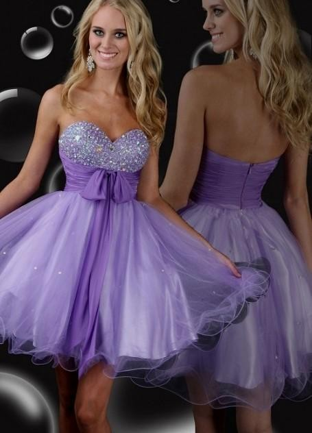 Purple dresses for teenagers