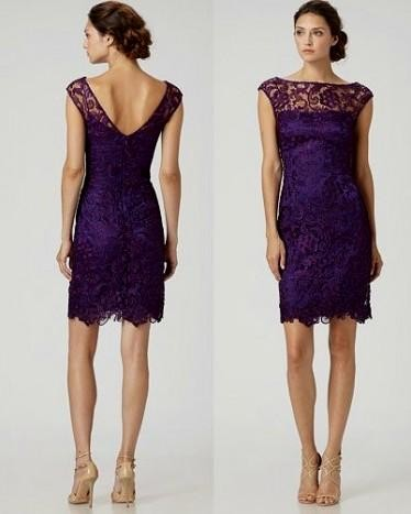 Purple Lace Bridesmaid Dress Looks B2b Fashion