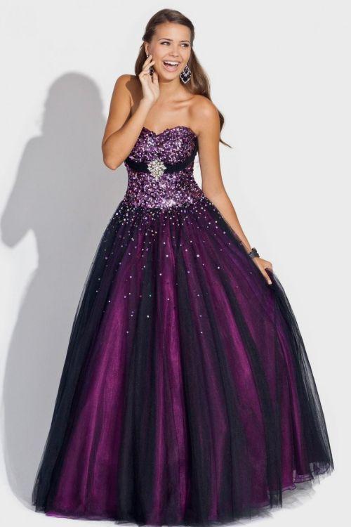 Purple Prom Dresses Plus Size 2016 2017 B2b Fashion