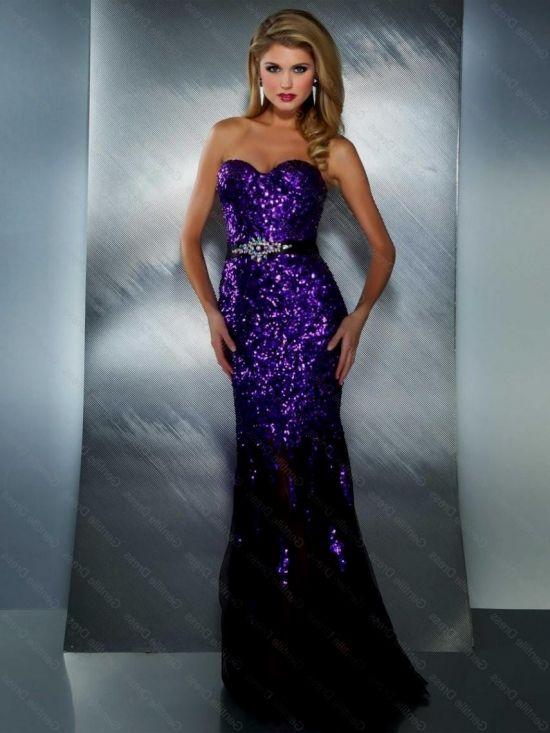 purple sequin mermaid dress looks | B2B Fashion