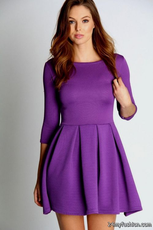 Purple Skater Dresses