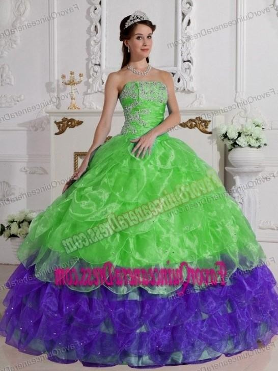 Quinceanera dresses lime green 2017