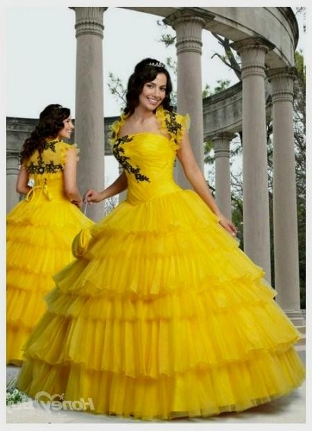 quinceanera dresses yellow and black 2016-2017 » B2B Fashion