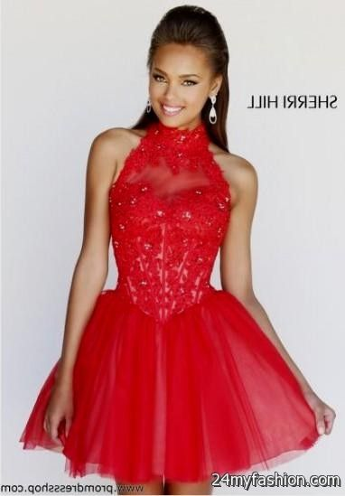 Red And Black Short Prom Dresses Looks B2b Fashion