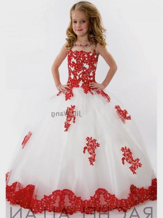 Red And White Flower Girl Dresses Looks B2b Fashion
