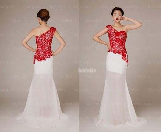 red and white lace prom dress 2016-2017 » B2B Fashion