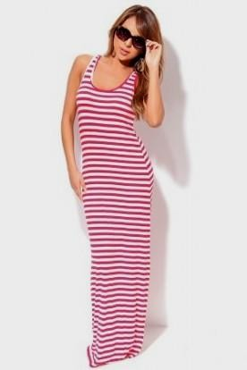 red and white striped maxi dress 2016-2017 » B2B Fashion