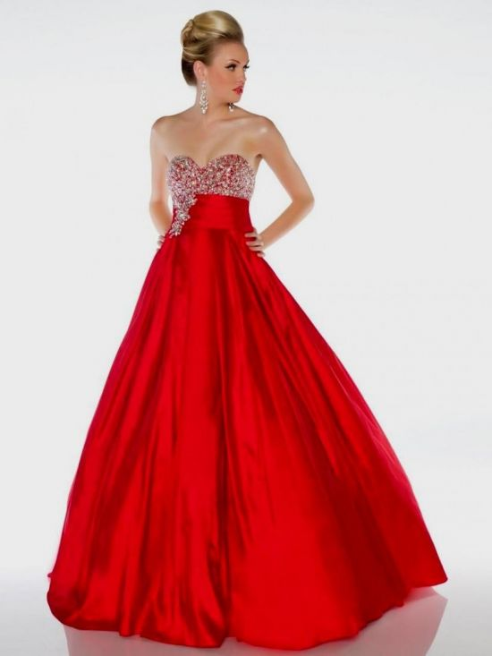 Red Ball Gown Prom Dresses 2014 - Missy Dress