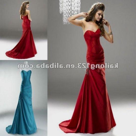 Red corset prom dresses