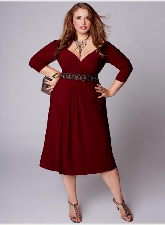 red dresses for plus size women 2016-2017 » B2B Fashion