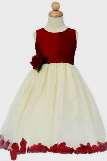 red flower girl dresses with black sash 20162017 b2b