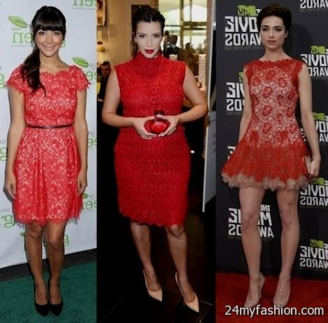 Red dress and accessories - Dressed for less