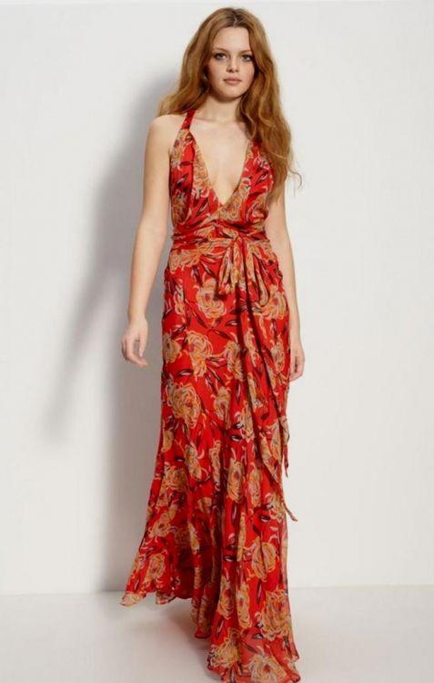red print maxi dress 2016-2017 » B2B Fashion