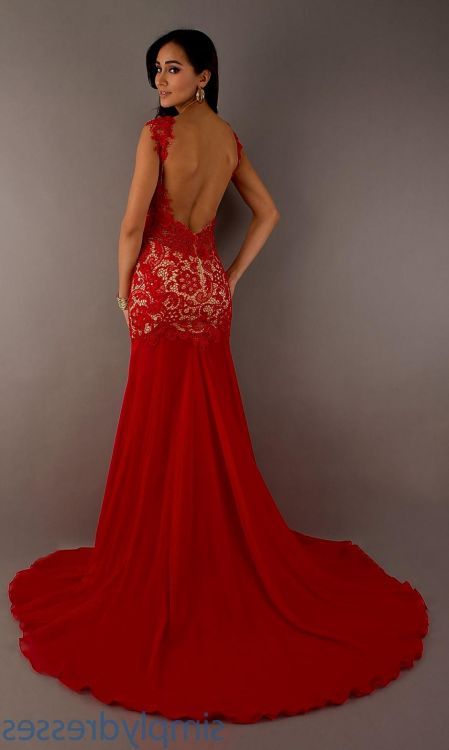 Red Open Back Prom Dresses 2017 - Plus Size Prom Dresses