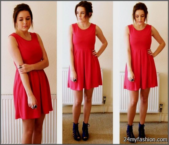red skater dress outfit 2016-2017 » B2B Fashion