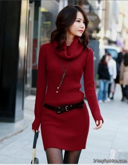 Red sweater dresses for women 2016-2017 | B2B Fashion
