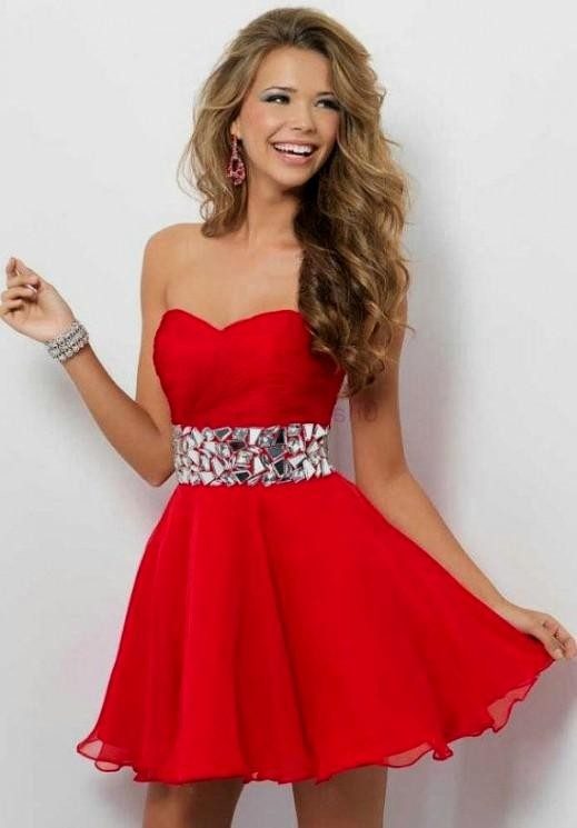 Short Sweetheart Prom Dresses