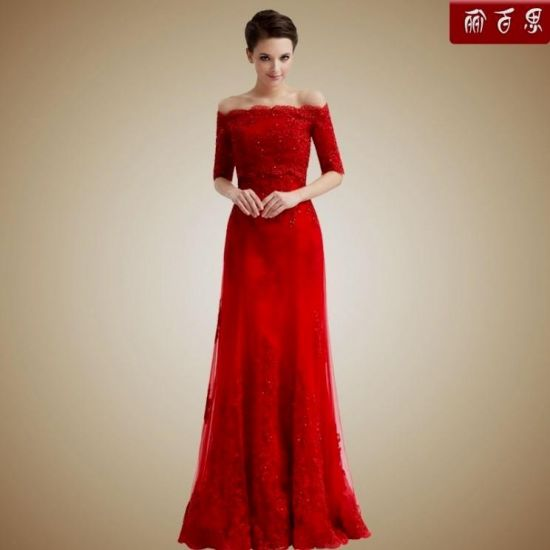 Red wedding dresses with sleeves 2016 2017 b2b fashion for Red dresses for a wedding