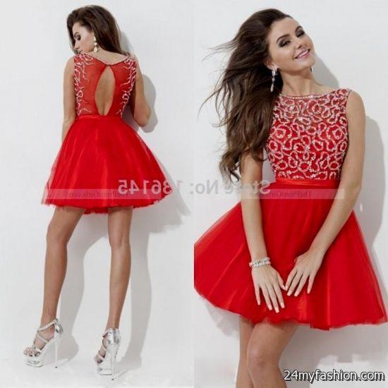 Red Winter Formal Dresses Juniors 2016 2017 B2b Fashion